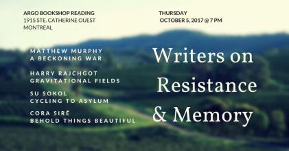 Writers on Resistance and Memory